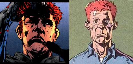 Jason Todd (Red Hood) and Walter Kovacs (Rorschach)